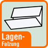 Piktogramm mit der Aufschrift Lagenfalzung