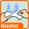 Piktogramm für extra nassfeste Papierhandtücher