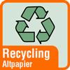 Piktogramm für Papierhandtücher aus Recycling-Papier