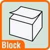 Piktogramm für Postits als Block