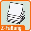 Piktogramm für Postits mit Z-Faltung