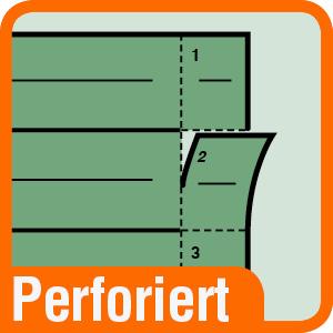 Piktogramm für perforierte Trennblätter