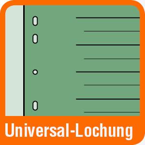 Piktogramm für Trennblätter mit Universal-Lochung