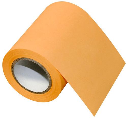 Orangefarbene Postit-Rolle