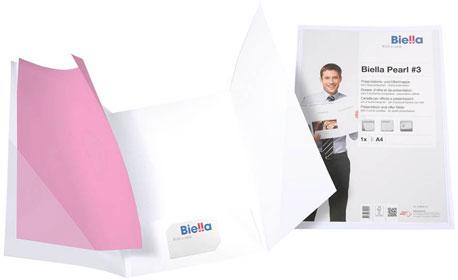 Weiße Präsentationsmappe von Biella