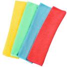 Vier verschiedenfarbige Microfasertücher