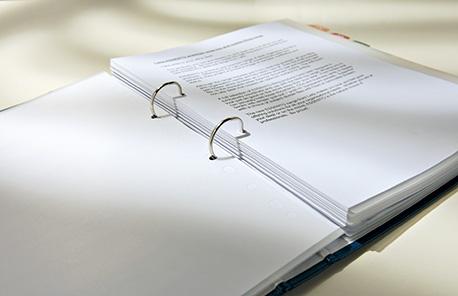 Abbildung Ordner mit Dokumenten