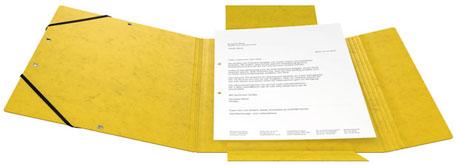 Geöffnete gelbe Sammelmappe