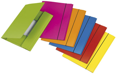 Verschiedenfarbige Sammelmappen im Fächer