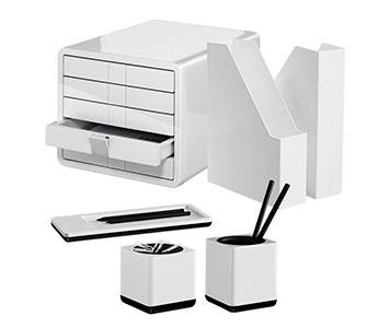 Schreibtischset aus Kunststoff