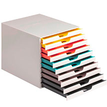 Schubladenbox mit vielen Schubladen