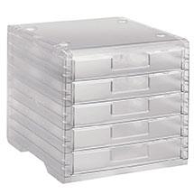 Transparente Schubladenbox