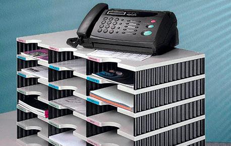 Eine Sortierstation im Büro