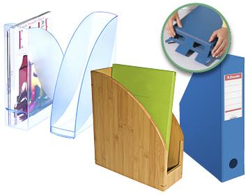 Unterschiedlicher Stehsammler in blautransparent, aus Bambus sowie ein blauer faltbarer Stehsammler