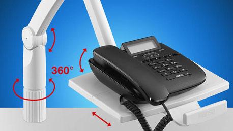 Telefonschwenkarm mit Zusatzgelenken