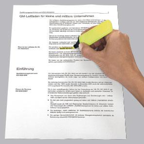 Markieren von Text mit Textmarker