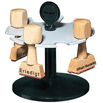 trodat Textstempel aus Holz mit Stempelhalter