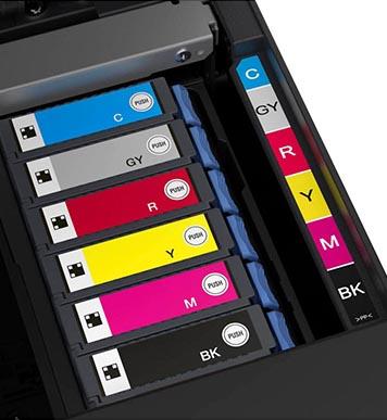 Druckqualität eines Tintenstrahldruckers