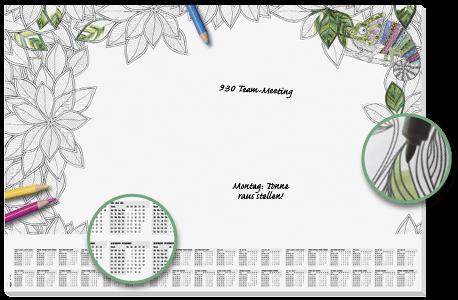 Tischkalender zum Ausmalen