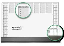 Tischkalender mit Fläche für Notizen