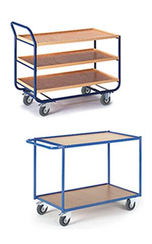 Verschiedene Tischwagen-Modelle
