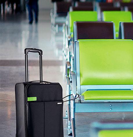 Trolley am Flughafen