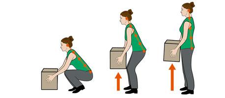 Zeichnung, die zeigt wie Sie einen Umzugskarton heben sollten