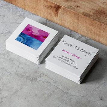 Visitenkarten in quadratischer Form