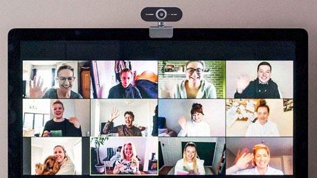Verschiedene Sichtfelder von Webcams