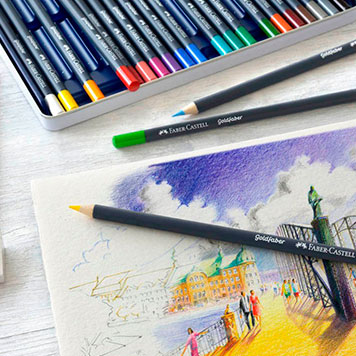 Malblock mit Malerei