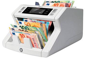Geldzählmaschine in Anwendung