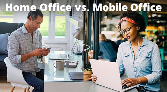 Unterschied zwischen Home- und Mobile-Office