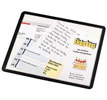 Transparentes Mousepad mit Einschub für Bilder