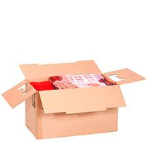 Umzugskarton gefüllt mit leichten Dingen