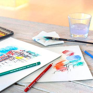 Aquarellblock mit Malerei