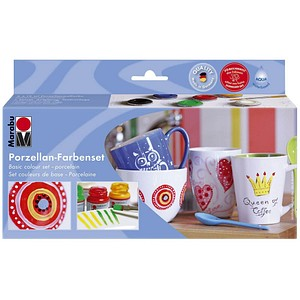 Marabu Porcelain Starter-Set Porzellanfarben 6x 15,0 ml