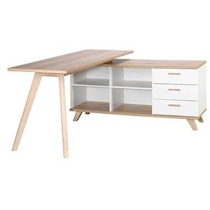 Schreibtisch Oslo weiß rechteckig