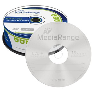25 MediaRange DVD-R