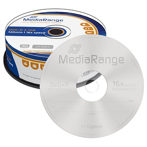 25 MediaRange DVD+R