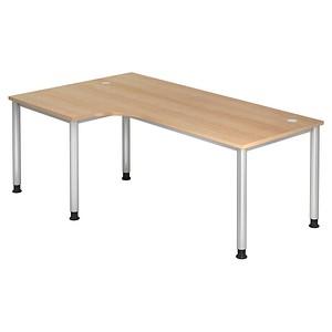 Höhenverstellbarer Schreibtisch eiche L-Form