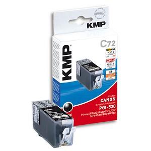 KMP C72 schwarz Tintenpatrone ersetzt Canon PGI-520 BK