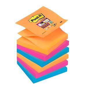 6x Post-it® Super Sticky Bankok Haftnotizen R3306SE farbsortiert