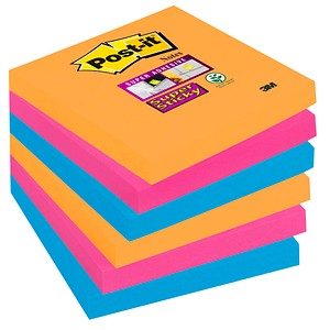 Post-it® Super Sticky Notes Bangkok Collection Haftnotizen farbsortiert