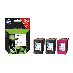 HP 301 schwarz, color Tintenpatronen
