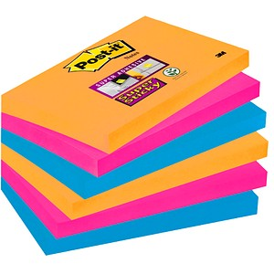 Post-it® Super Sticky Notes Bangkok Collection Haftnotizen farbsortiert