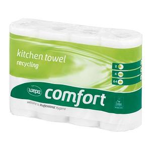4 wepa Küchenrollen comfort 2-lagig