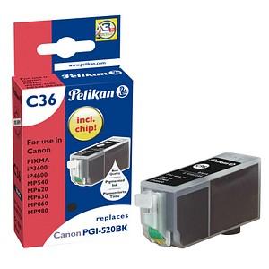 Pelikan C36 schwarz Tintenpatrone ersetzt Canon PGI-520 BK