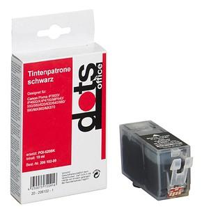 dots schwarz Tintenpatrone ersetzt Canon PGI-520 BK
