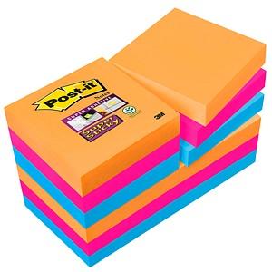 12x Post-it® Super Sticky Notes Bangkok Collection Haftnotizen 62212SE farbsortiert