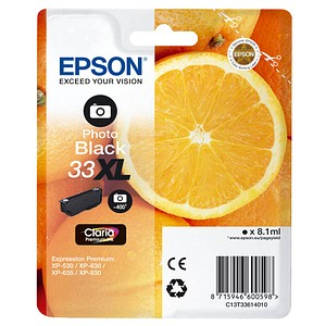 EPSON 33XL / T3361XL photo schwarz Tintenpatrone